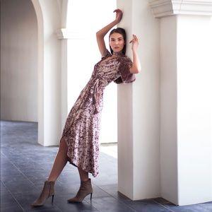 f57d997bcd Gianni Bini Dresses - Gianni Bini velvet wrap dress with sleeve slits